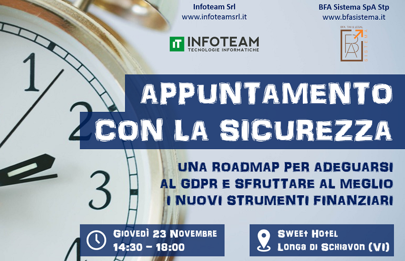 Workshop: Appuntamento con la sicurezza, 23 Novembre 2017