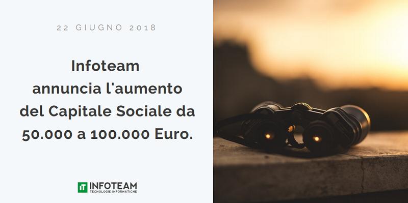 Aumento del capitale sociale di Infoteam