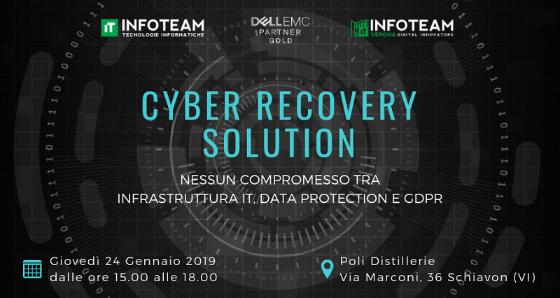 Evento: Cyber Recovery Solution, 24 Gennaio 2019